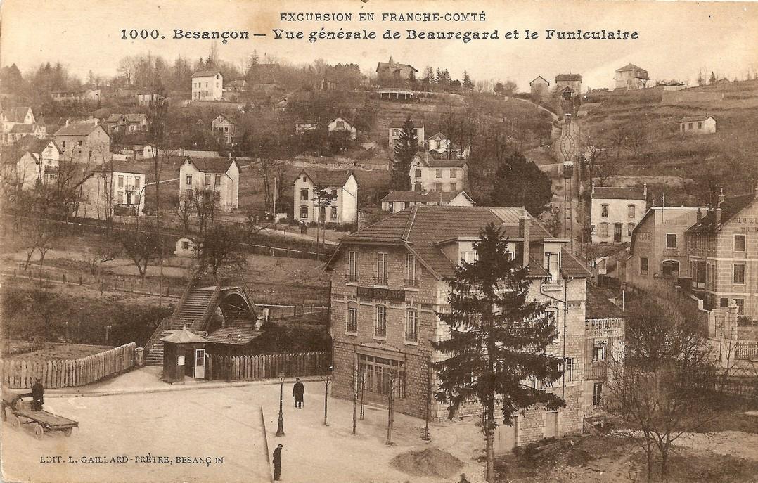 Cartes postales anciennes les amis du funiculaire de for Code postal de besancon